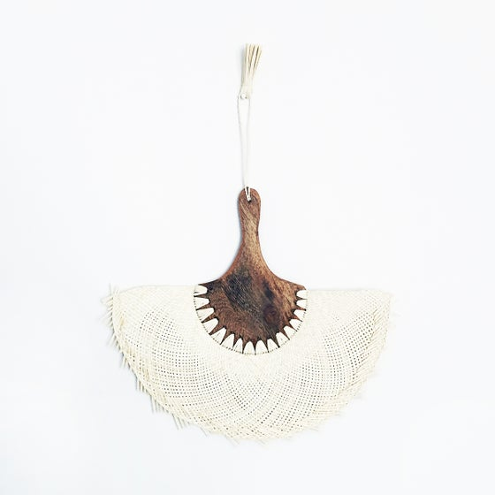 Image of Long Handled Jipijapa Palm Fan