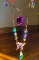 Image 1 of jaunt wraps collab electroformed butterfly suncatcher