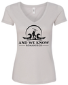 Women's Light Grey V-Neck