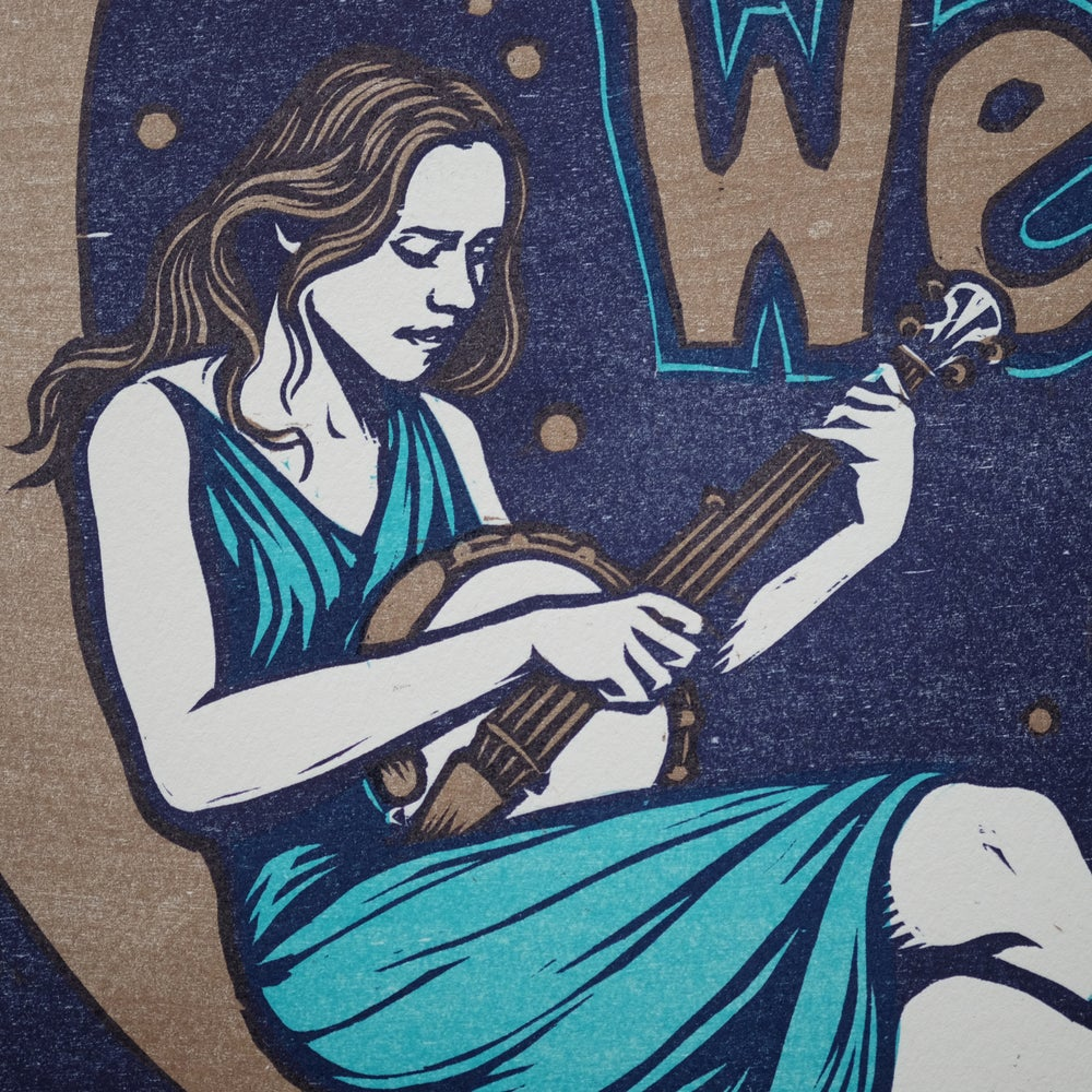 Cosmic Blue Gillian Welch Poster