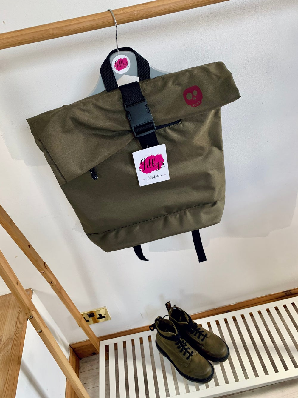 ROLO - roll top rucksack with Skye skull