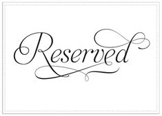 Image of Reserved for C.W.