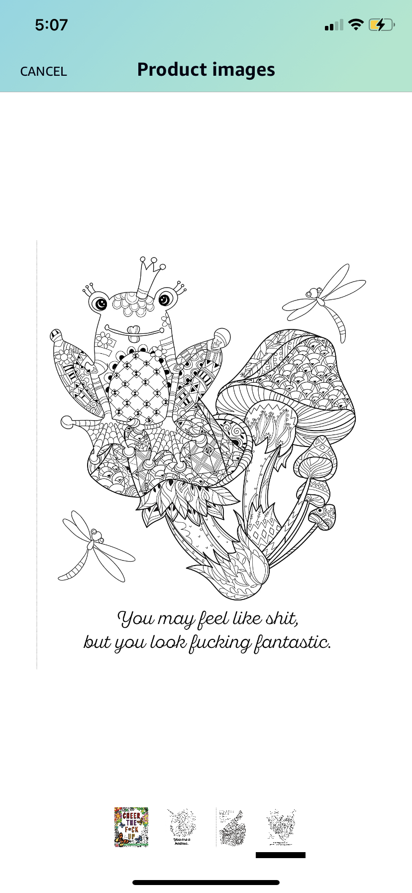 Image of Bluntly motivational coloring book