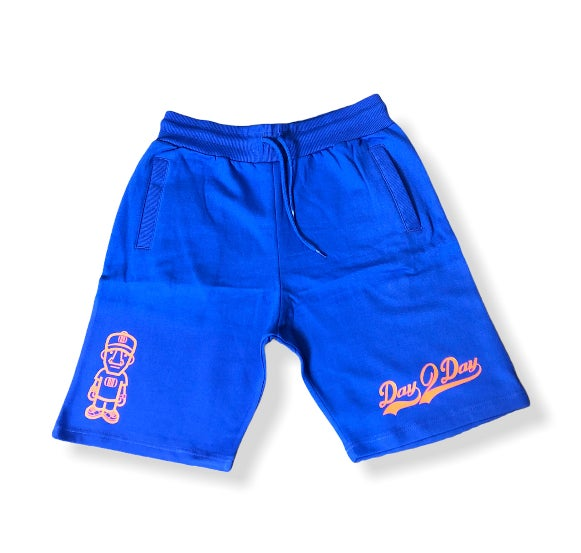 Blue/Orange Sweat Shorts
