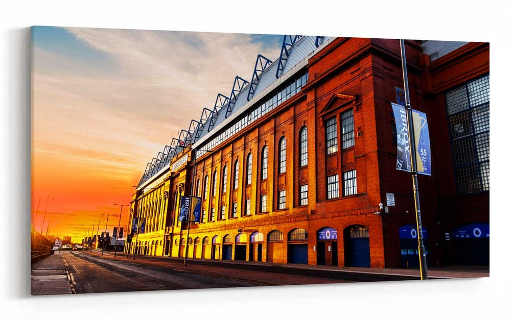 Image of Ibrox at Sunset