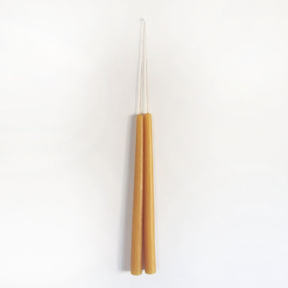 Image of Hand Poured Beeswax Taper Candles