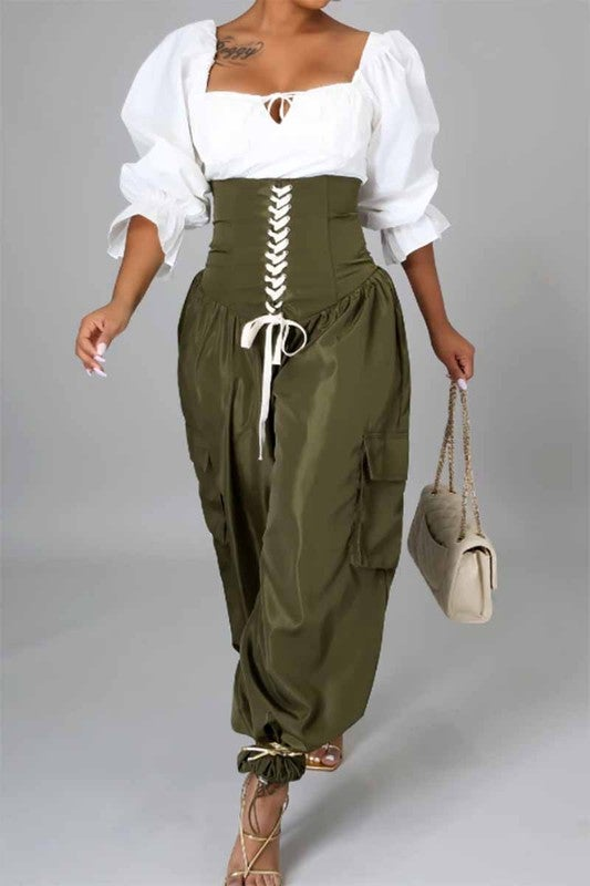 Image of Tied Up Cargo Pants