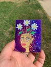 Blooming in the Spring Glitter Sticker