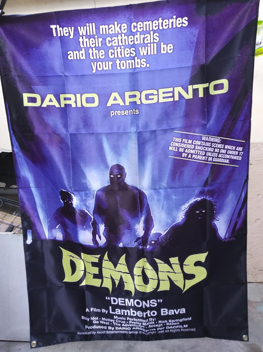 Demons movie banner *imported*