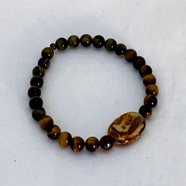 Image of Brown & Green Tiger Eye bracelet
