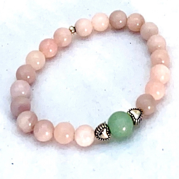 Image of Rose Quartz & Jade bracelet