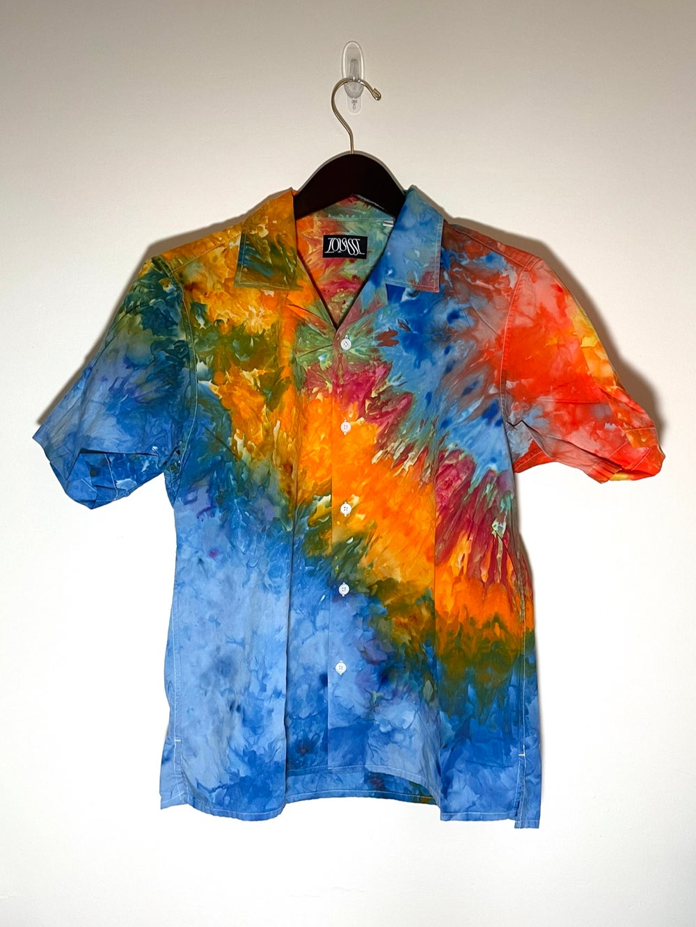 Tie Dye Button-up #6 - Small