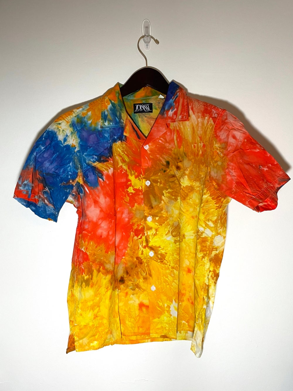Tie Dye Button-up #7 - Small