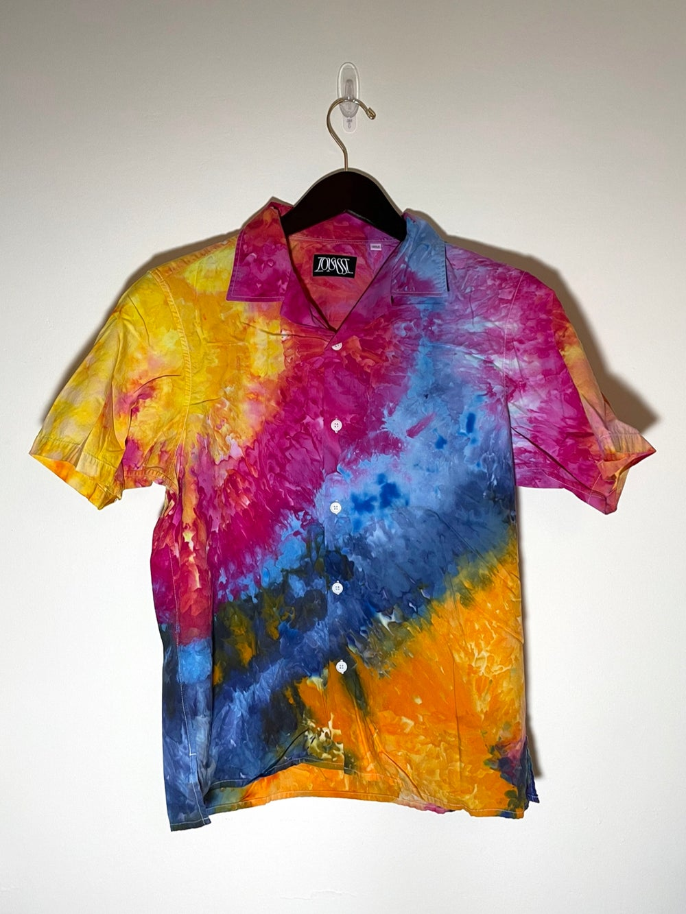 Tie Dye Button-up #8 - Small