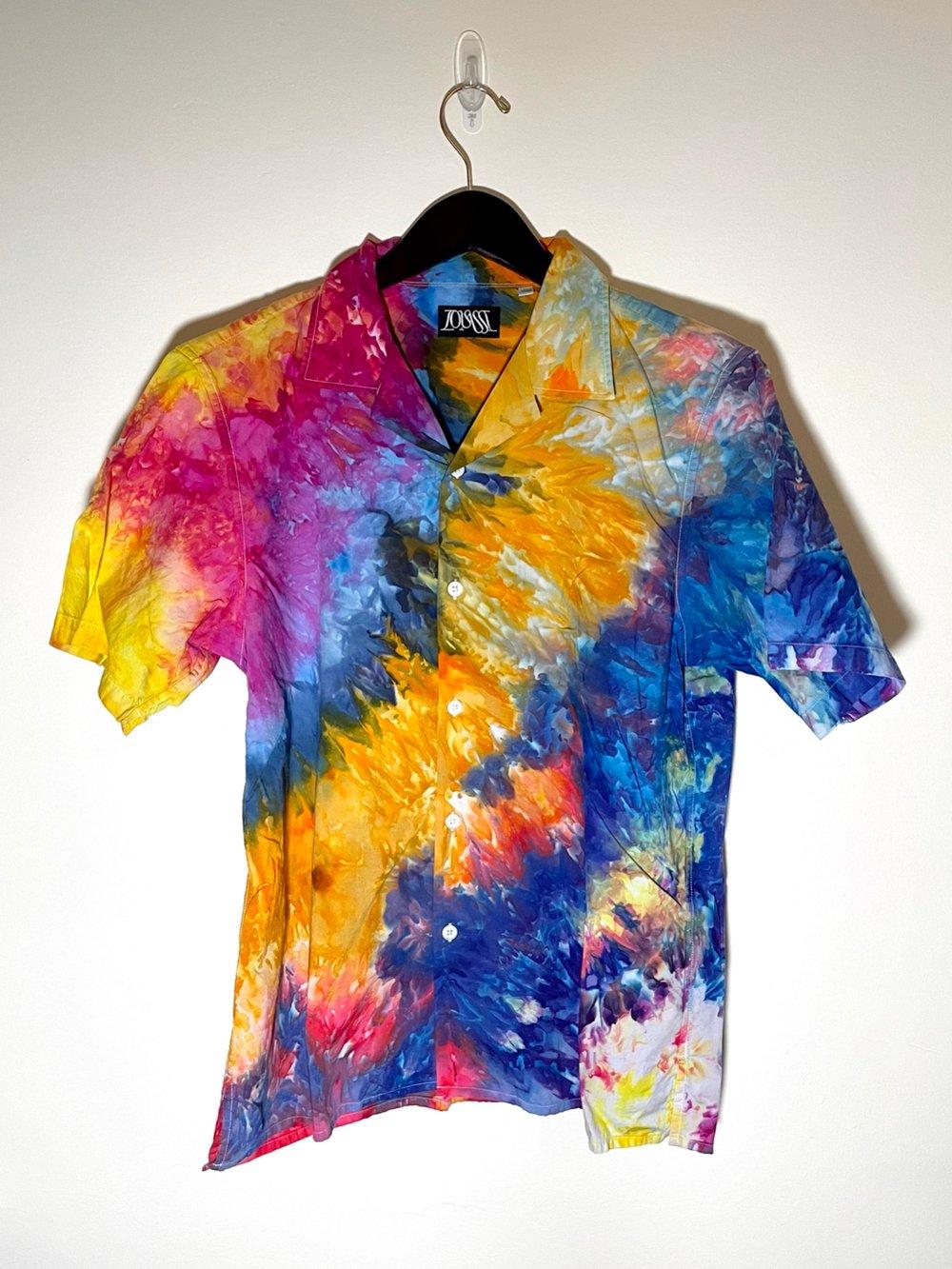 Tie Dye Button-up #10 - Medium
