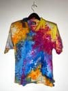 Tie Dye Button-up #11 - Medium