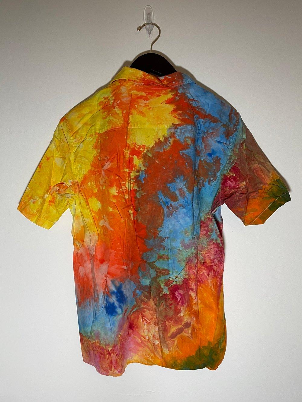 Tie Dye Button-up #14 - Medium