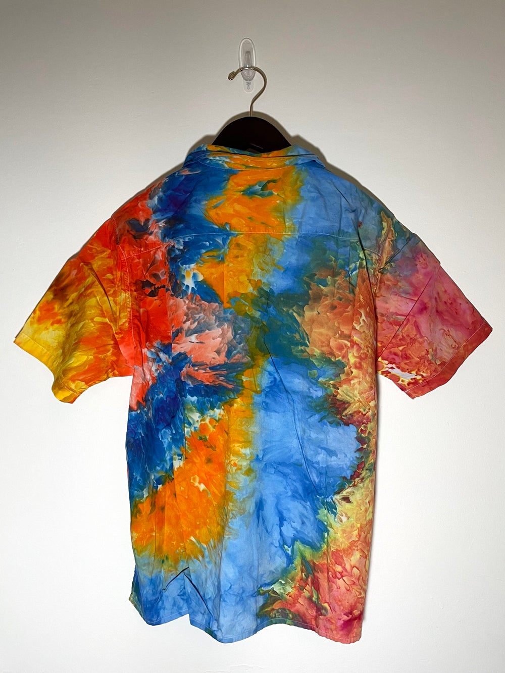 Tie Dye Button-up #15 - Medium