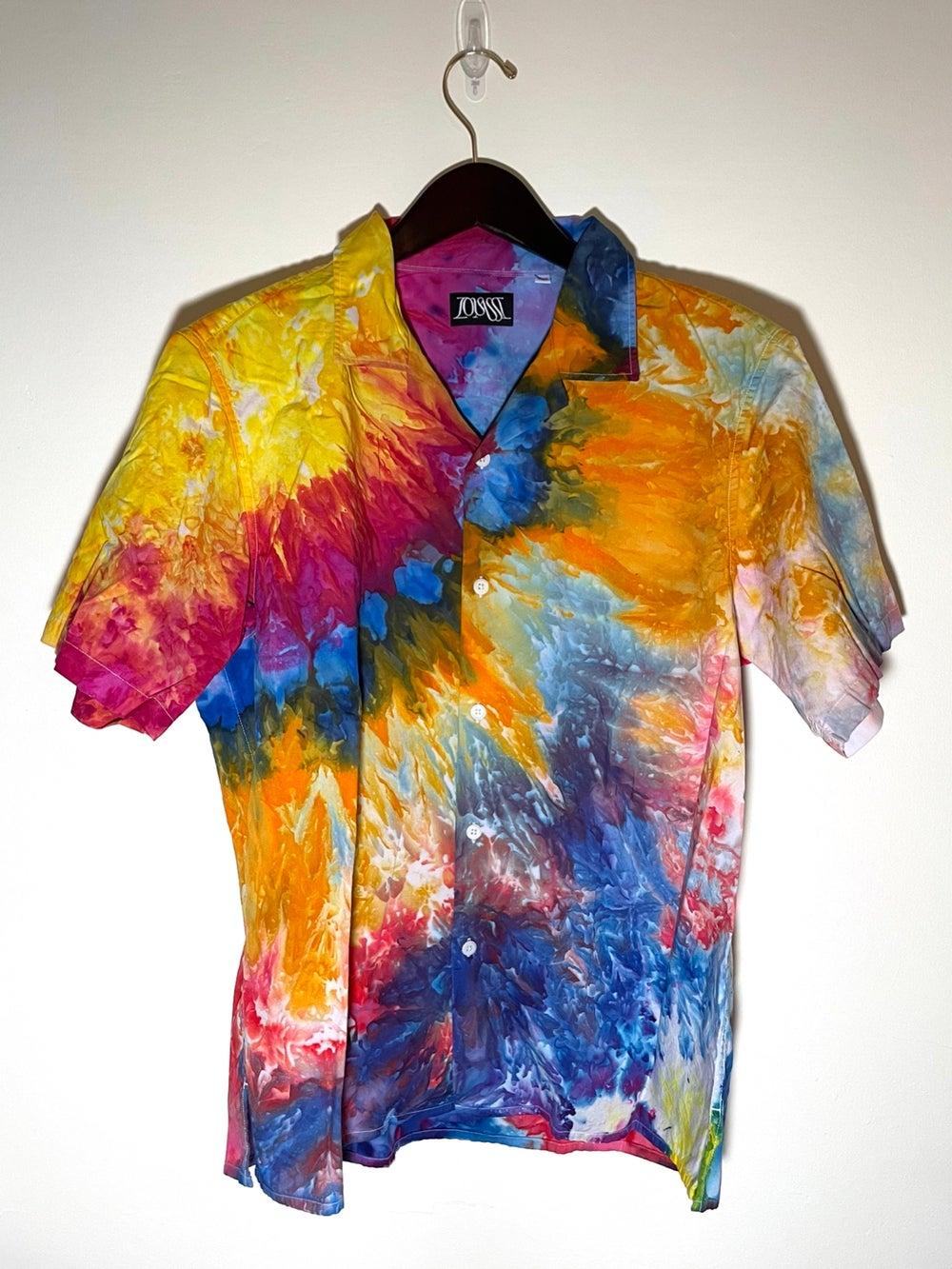 Tie Dye Button-up #17 - Large
