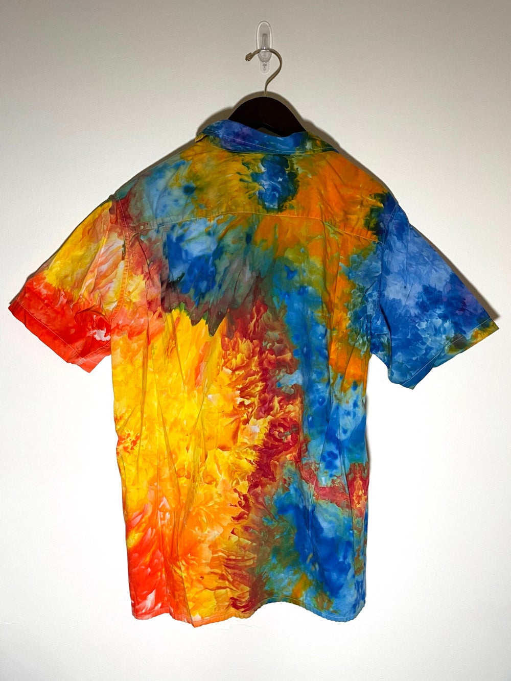 Tie Dye Button-up #19 - Large