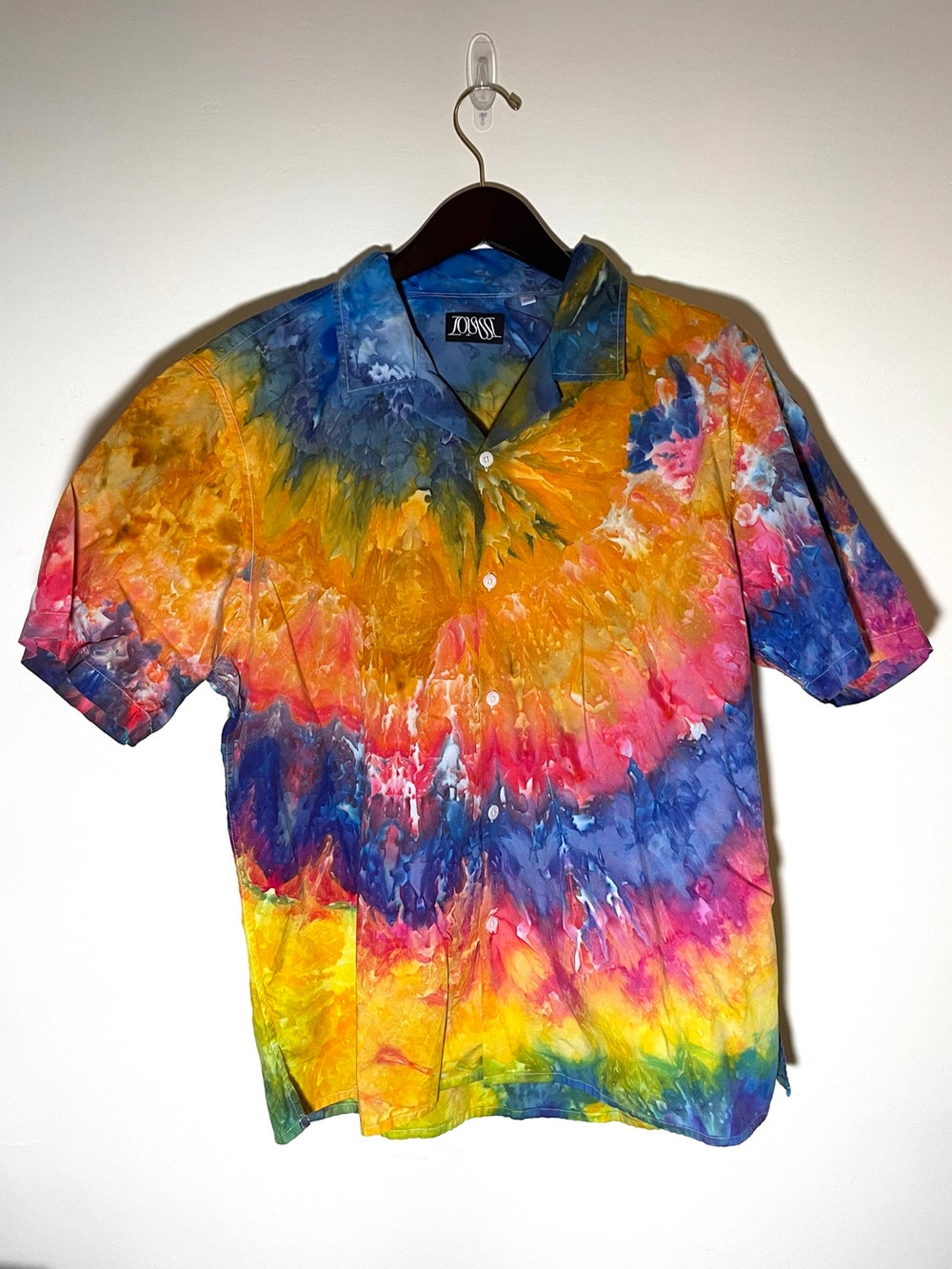 Tie Dye Button-up #20 - Extra Large