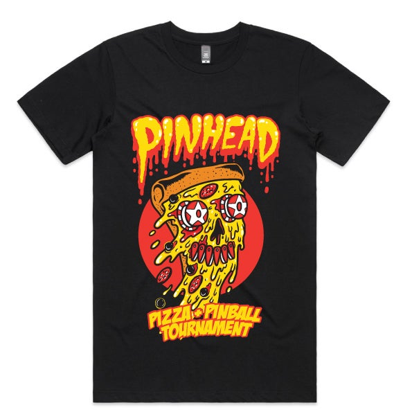 AVAILABLE SOON* COLLECTION 5   LE. 02   PIZZA + PINBALL TEE (Front Print Only)