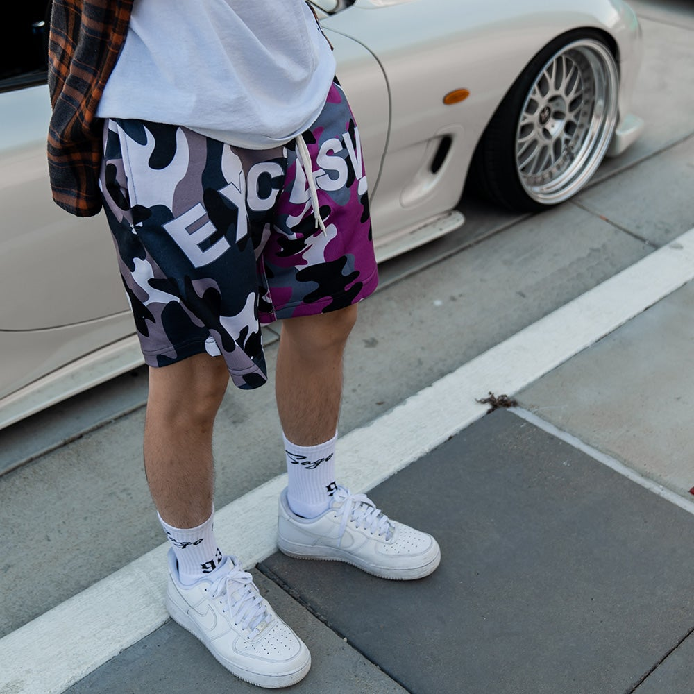 Image of EXCLSV Camo Shorts