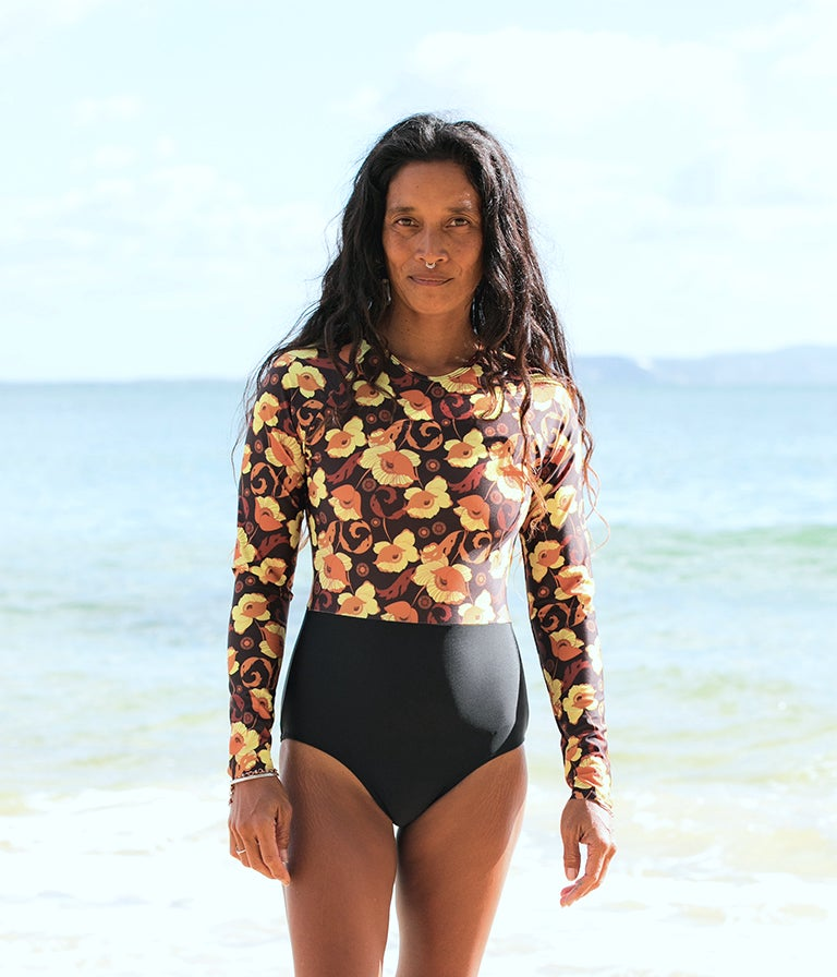 Image of Pacific Surfsuit - Yellow Poppy
