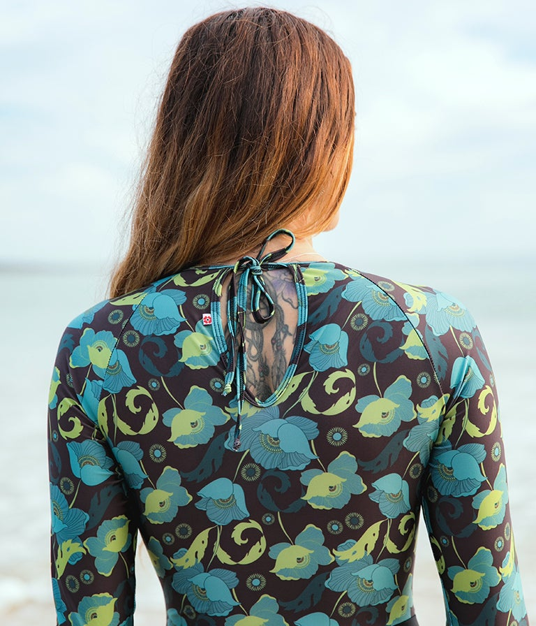 Image of Pacific Surfsuit - Blue Poppy