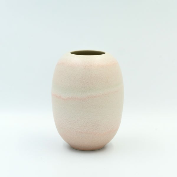 Image of SMALL UNIKA VASE IN CORAL GLAZE