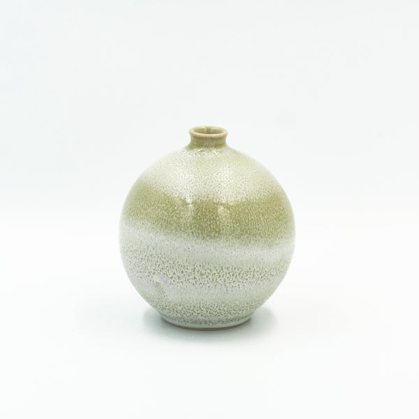 Image of SMALL BULB VASE IN FORREST WHITE GLAZE