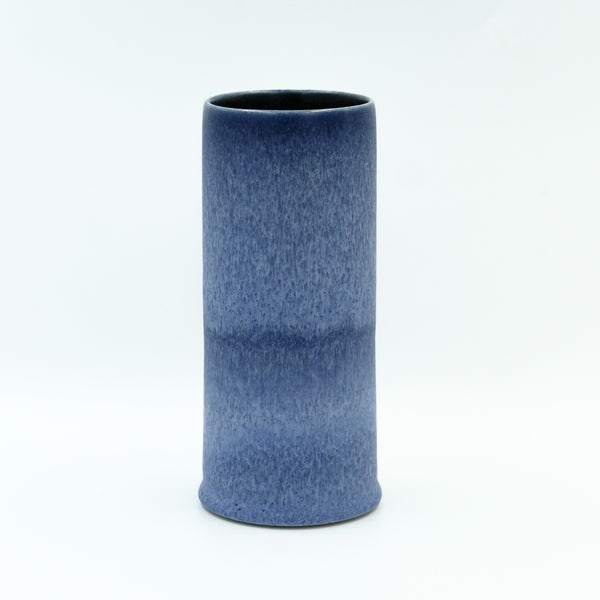 Image of UNIKA CYLINDER IN INDIGO BLUE GLAZE