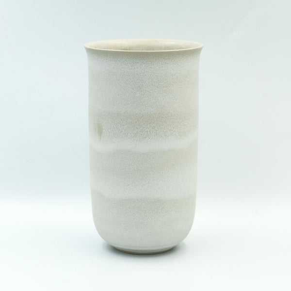 Image of FLARED UNIKA VASE IN FROSTED WHITE GLAZE