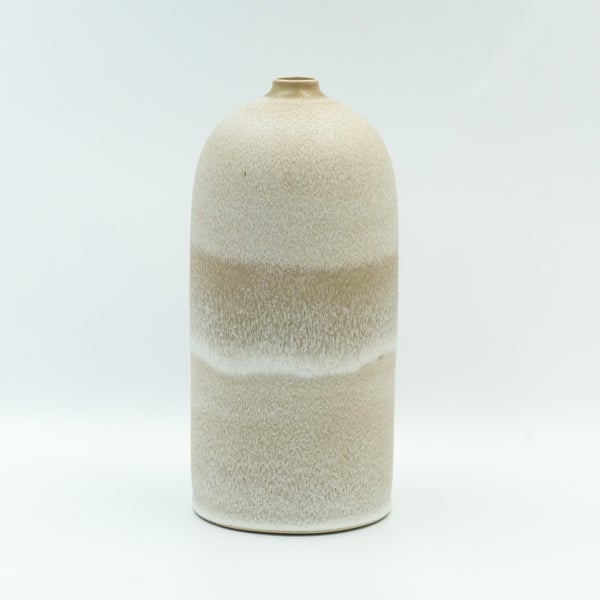 Image of SHOULDERED UNIKA BOTTLE IN EARTH WHITE GLAZE