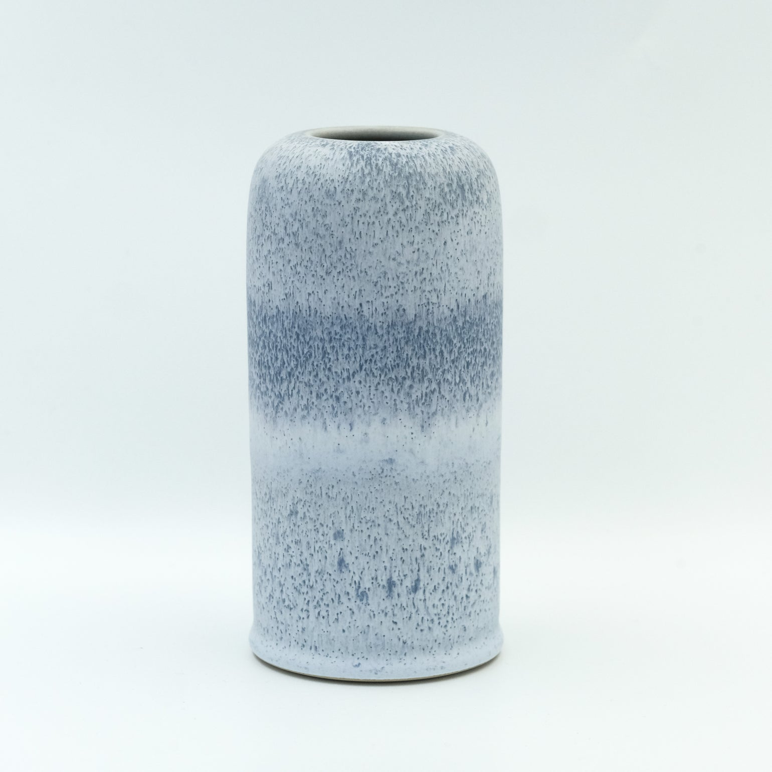 Image of MEDIUM UNIKA VASE IN FROSTED BLUE GLAZE
