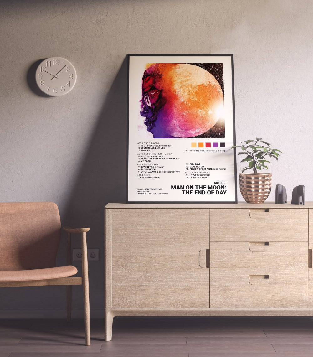 Kid Cudi - Man on the Moon: The End of Day Album Cover Poster