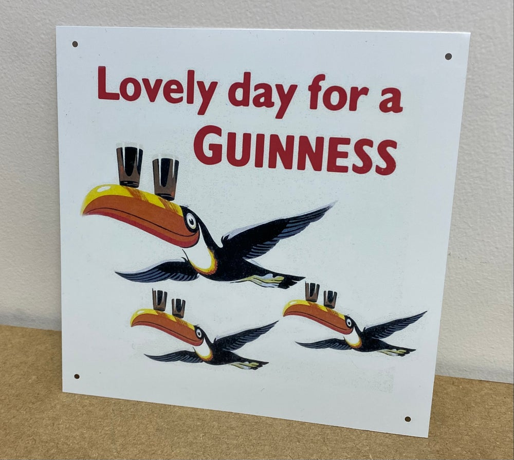 20x20cm Lovely Day for a Guinness Metal Sign