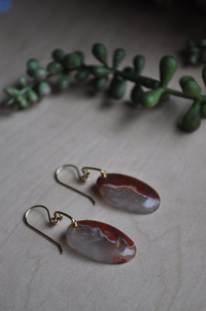 Image of One of a Kind Agate Oval Drops