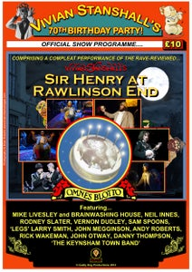 Image of Vivian Stanshall's 70th Birthday Party Programme