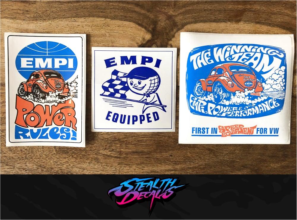 Image of 3x Retro EMPI Stickers