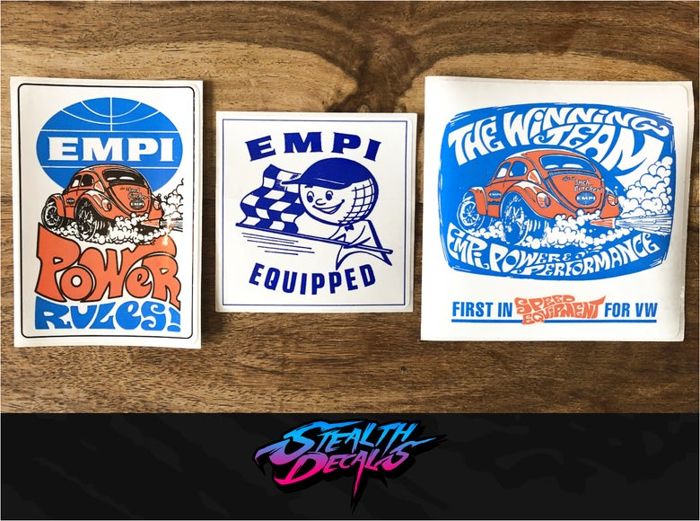 Image of 3x Retro EMPI Stickers