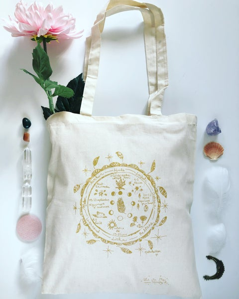 Image of Tote Bag *Roue Païenne*
