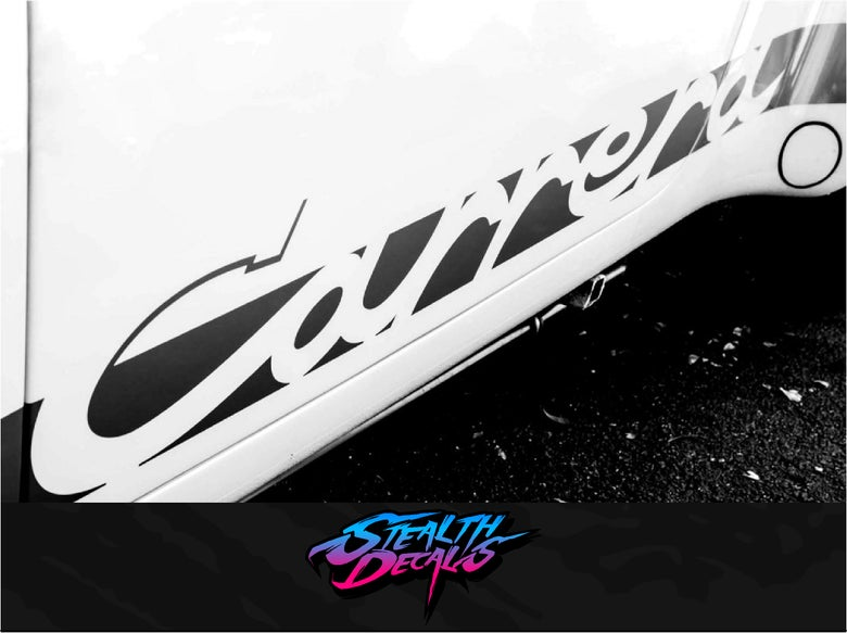 Image of 2x Carrera Side decals Premium Quality