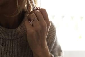 Image of Platinum 4.0mm rose cut diamond solitaire ring (IOW181)