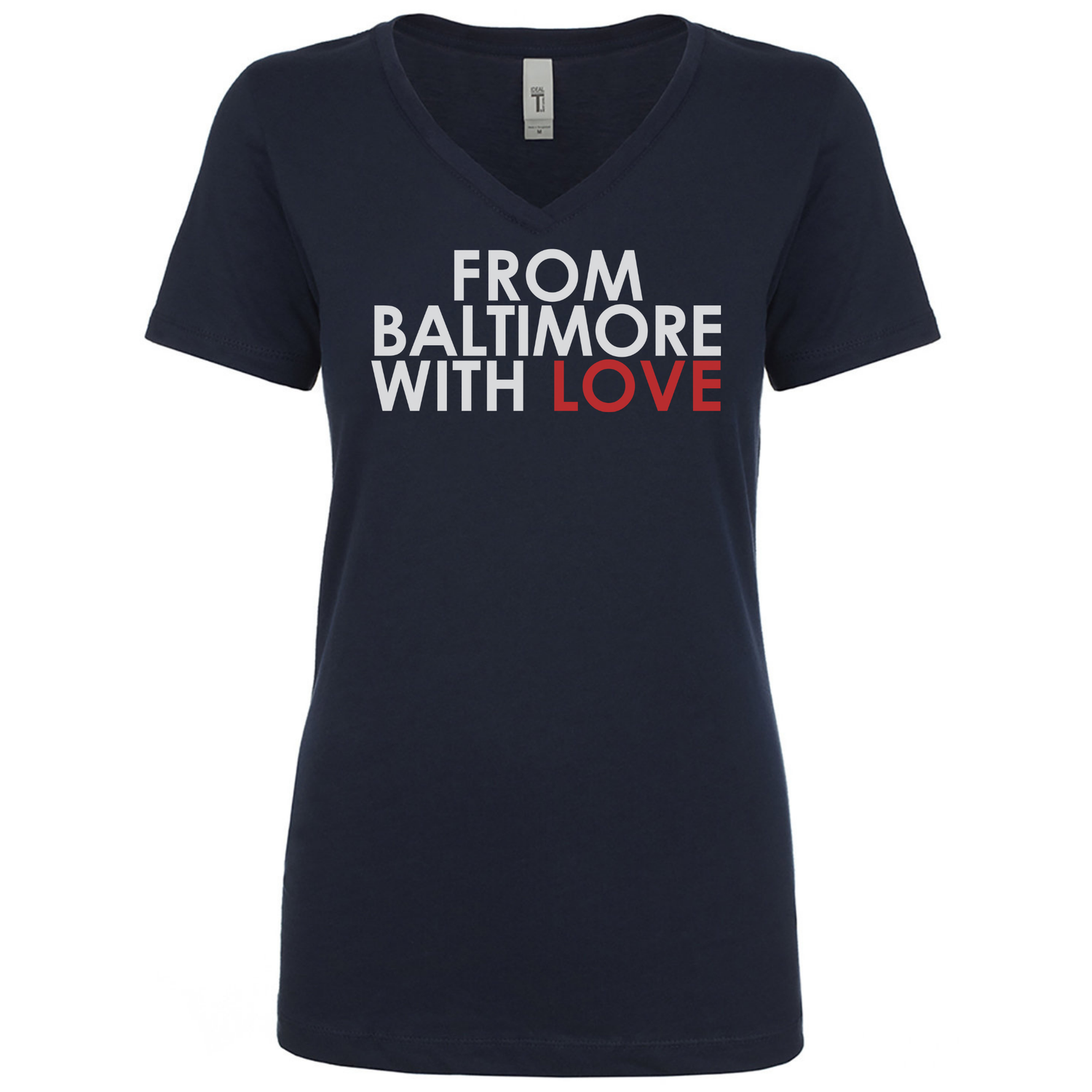 Image of Ladies From Baltimore With Love Original SS Tee - NAVY/RED