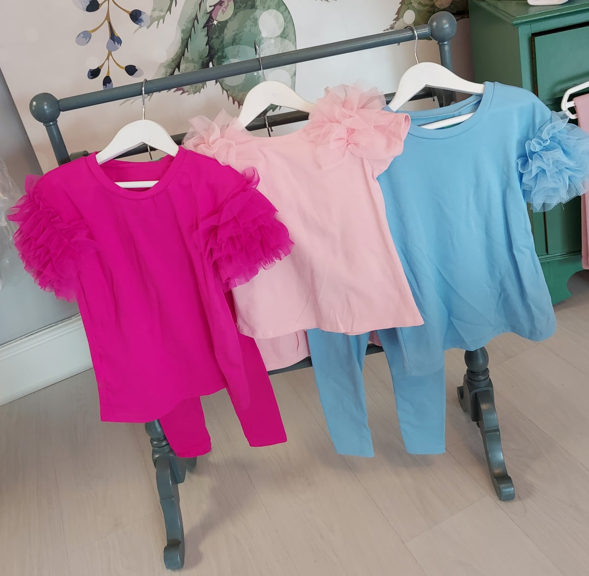 Image of Pale Blue Tulle Tracksuit