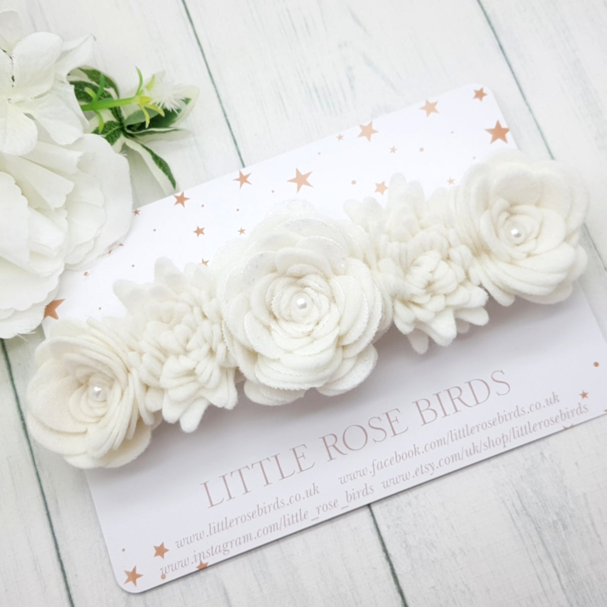 Image of White Lux Flower Crown