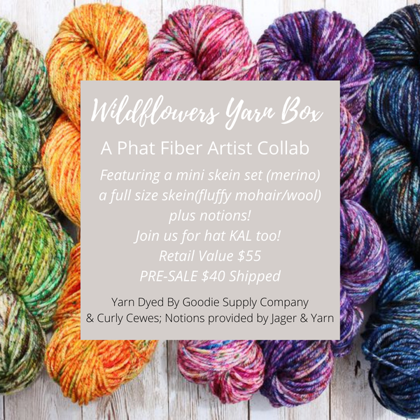 Image of ***Special Pre-Sale Wildflowers Springtime YARN Collaboration Box ***