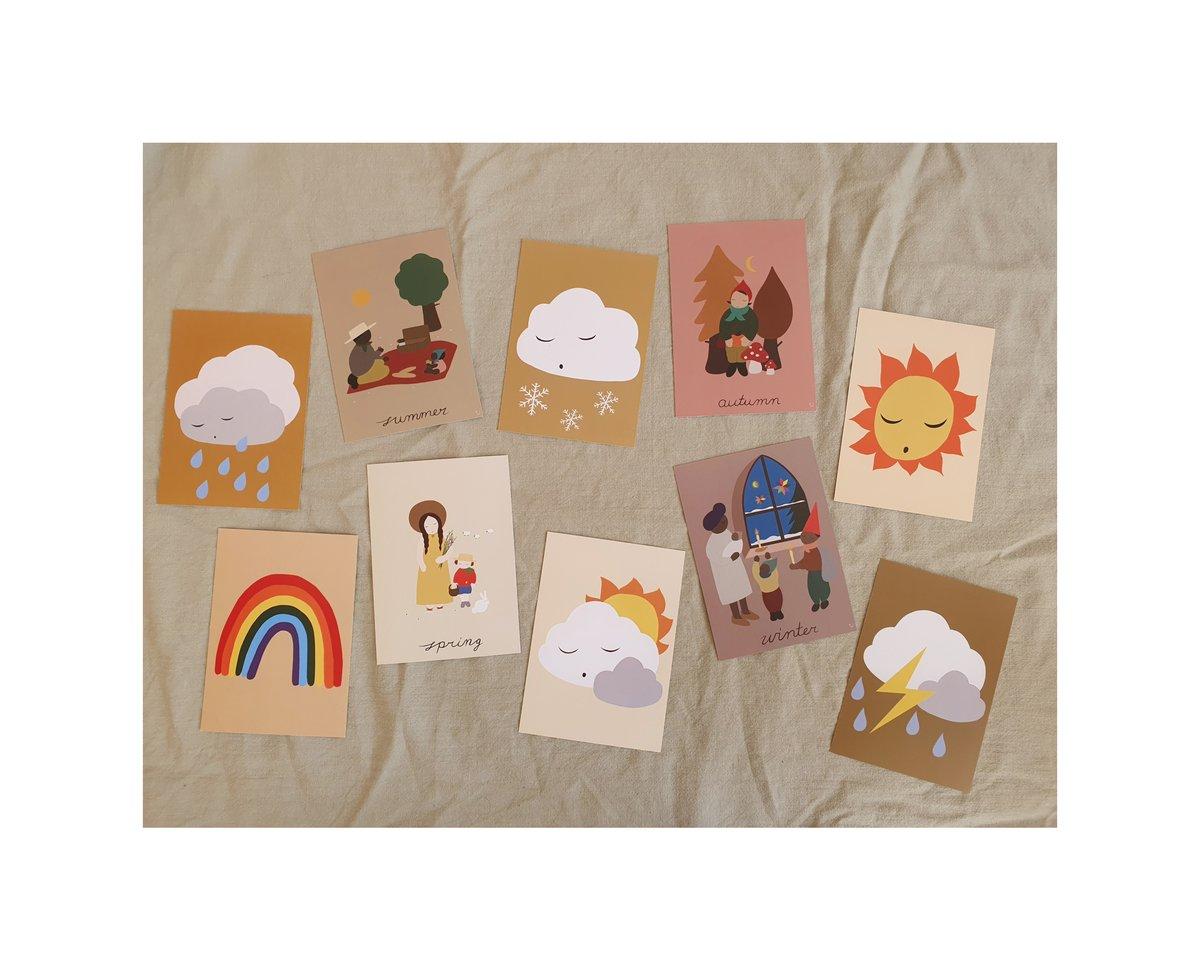 Image of 10 X A6 Weather / Seasons prints