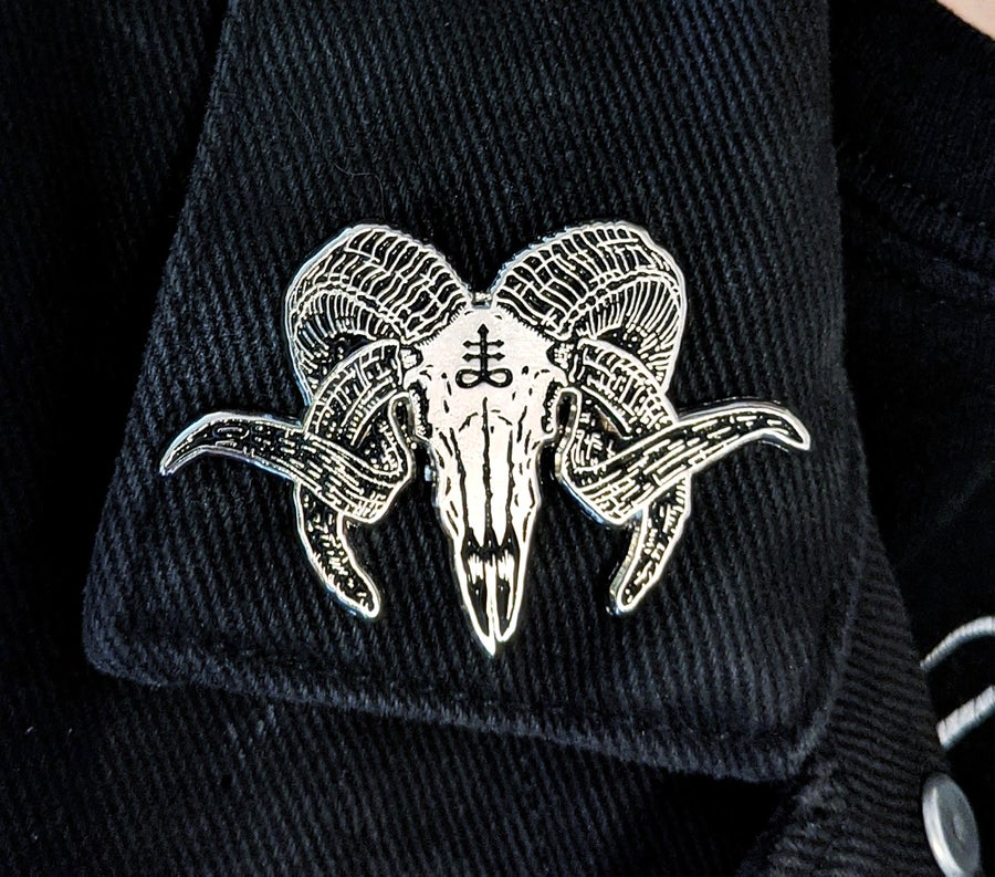 Image of The Leviathan Ram Enamel Pin